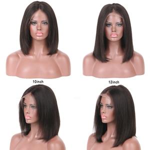 Image 5 - Perruque Bob Lace frontal sans colle naturelle brésilienne LUFFY, cheveux courts et Deep Part, noeuds décolorés, pré emballé, 13x6