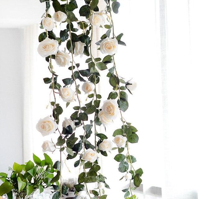 "70.9"" artificial vine fake hanging plants for garden silk flowers"