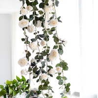 70 9 Artificial Vine Fake Hanging Plants For Garden Silk Flowers For Home Decoration Quality Real