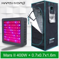 Mars II 400W LED Full Spectrum Grow Light ,Hydroponics Lamp and 70x70x160cm (2'29'' x2'29'' x5'25'') Indoor Grow tent Grow Box