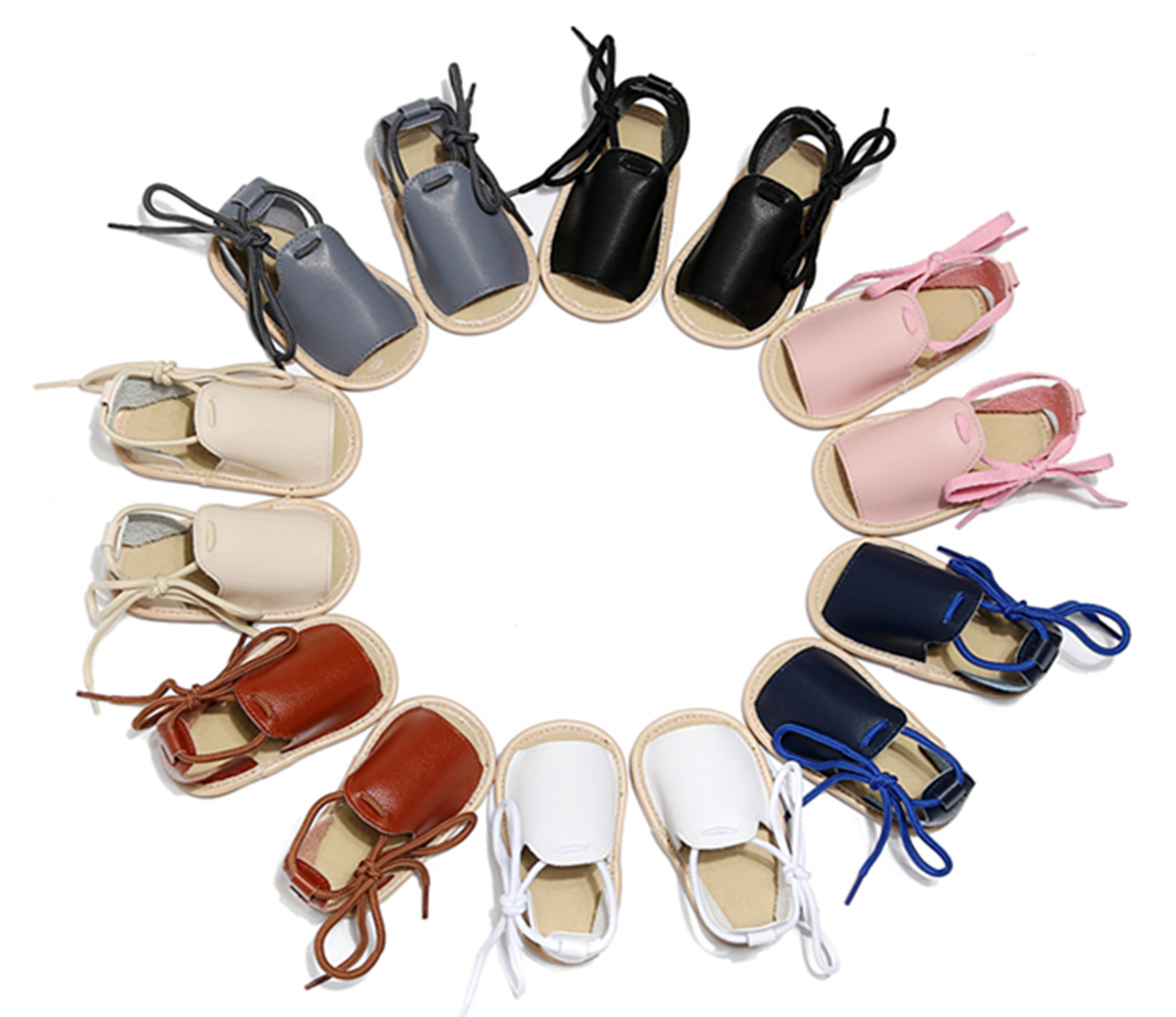 Summer New Baby Boy Sandals Fashion Baby Girl Moccasins Infant Toddler First Walkers Baby Leather Clogs Soft Sole Crib Shoe