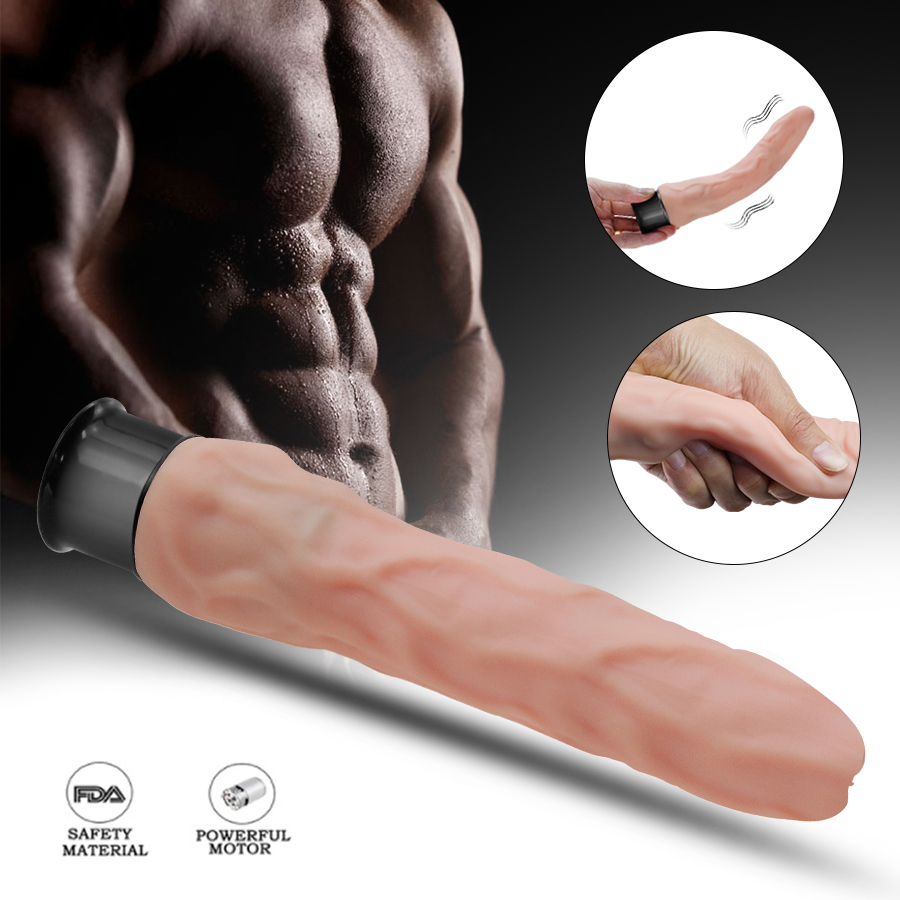 HWOK Soft Skin Realistic Huge <font><b>Dildo</b></font> <font><b>Vibrator</b></font> Artificial Penis Masturbator Big Long <font><b>Dildo</b></font> Adult <font><b>Sex</b></font> <font><b>Toys</b></font> for Woman Erotic Product image