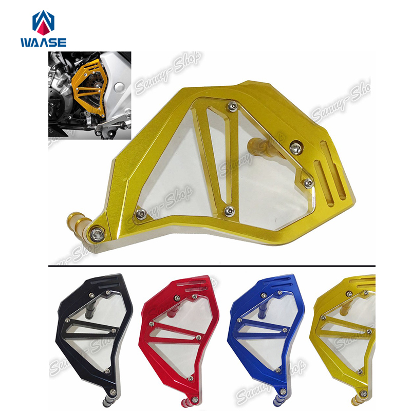Motorcycle Aluminum Front Sprocket Chain Guard Cover Left Side Engine For HONDA NC750S NC750X NC750 S X 2013 2014 2015 2016 motorcycle radiator grille grill guard cover protector for honda nc750 nc750s nc750x 2014 2015 2016 nc750 100% brand new