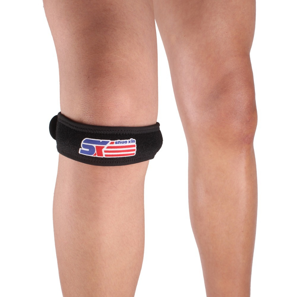 1PCS SX622 Sports Gym Leg Knee Patella Support Brace Wrap Protector Pad Band - Black