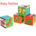 Baby Rattles Blocks Toy Soft Cloth Plush Building Block Early Educational Toys Colorful Baby Rattle For Children's Gifts