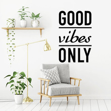 Exquisite good vibes only Sticker Waterproof Vinyl Wallpaper Home Decor Removable Wall Decoration Murals