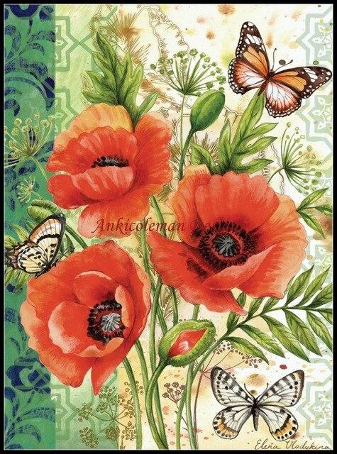 DMC Kits de point de croix 14 ct | Travaux manuels pour broderie, bricolage, peinture à lhuile, coquets de jardin, bonne qualité