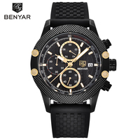 BENYAR Top Brand Luxury Mens Watches Business Quartz Wristwatches Waterproof Chronograph Sport Clock Men Horloge Mannen