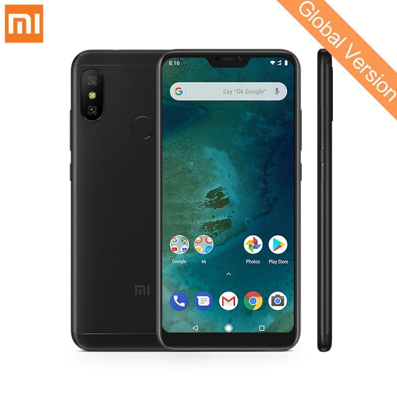 Mondial Version Xiao mi mi A2 Lite 4 gb 64 gb Mobile Téléphones 5.84 Plein Écran Snapdragon 625 Octa core 12MP + 5MP Double Caméra 4000 mah