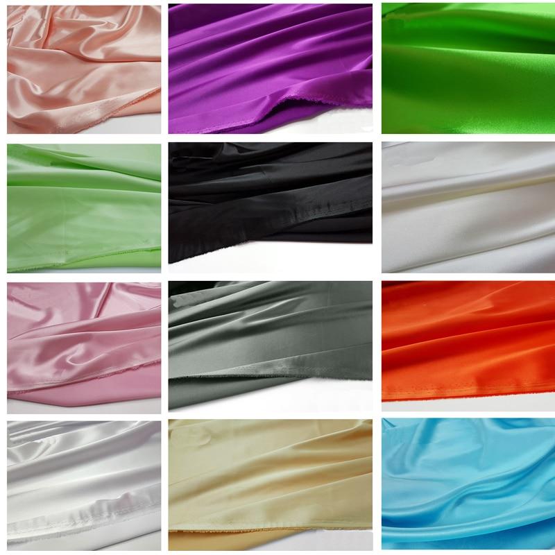Material de cetim de estiramento ligeiramente elástico super macio imitam a tela de seda do cetim charmeuse para o medidor do vestido