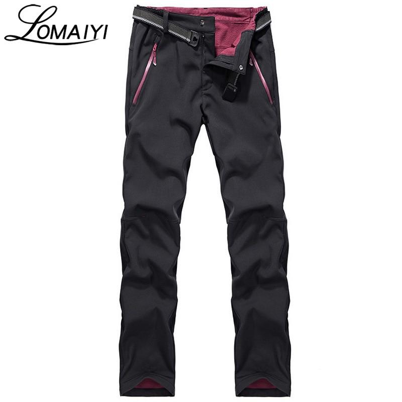 LOMAIYI 2018 Invierno Cálido Impermeable Pantalones Casuales Hombres - Ropa de hombre