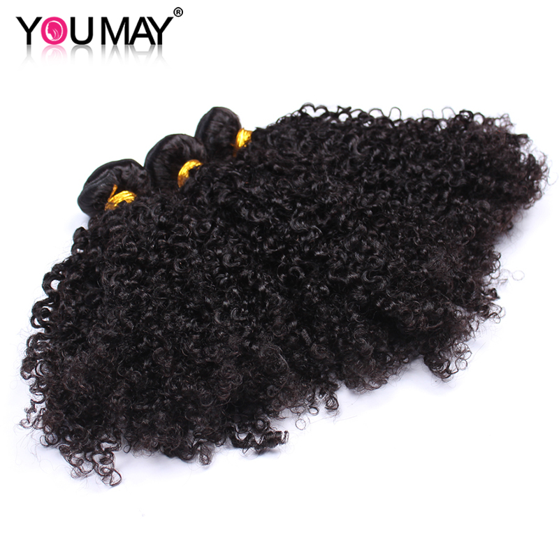 3B 3C Mongolian Kinky Curly Human Hair Bundles 3 Pieces Deal 100% Curly Human Hair Extensions Natural Hair You May Remy Hair