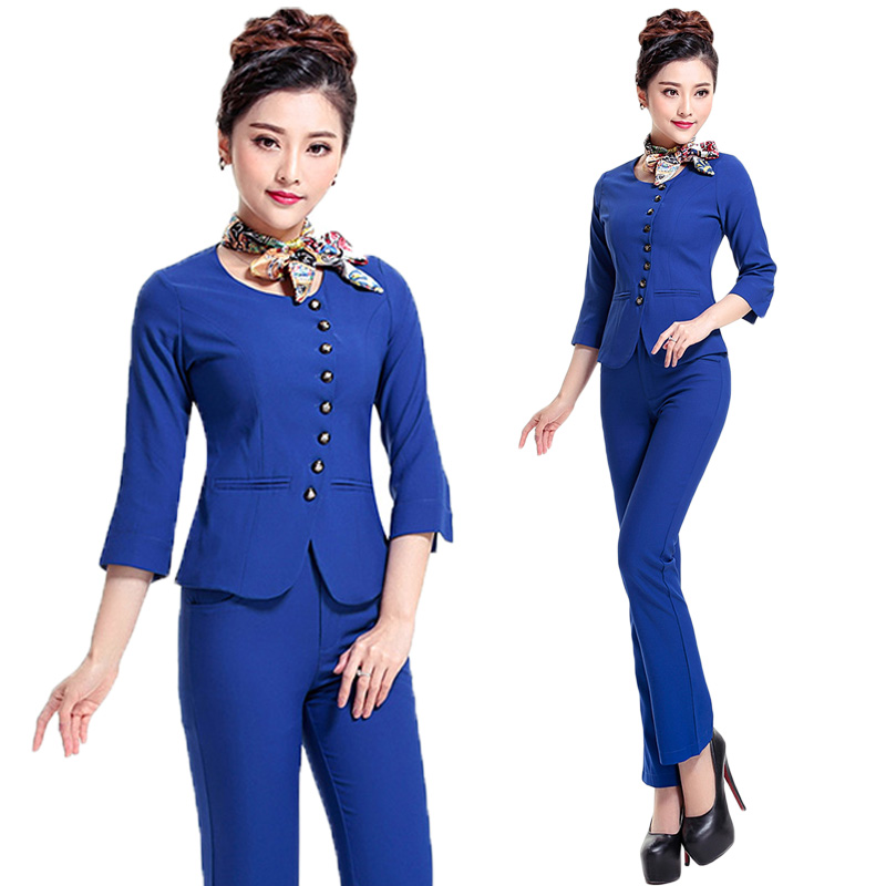 Popular uniform beauty buy cheap uniform beauty lots from for Spa uniform blue