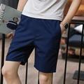 Cortocircuitos de la manera de Los Hombres Casual Cotton Beach Shorts Aptitud de Verano Para Hombre Joggers Entrenamiento Masculino Pantalones Cortos de Color Sólido Masculino
