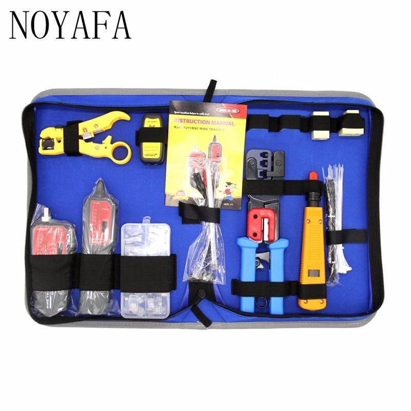 Trousse d'outils de réparation de réseau de NF-1505 avec traqueur de fil NF-268 pince à dénuder outil de sertissage outil de Maintenance