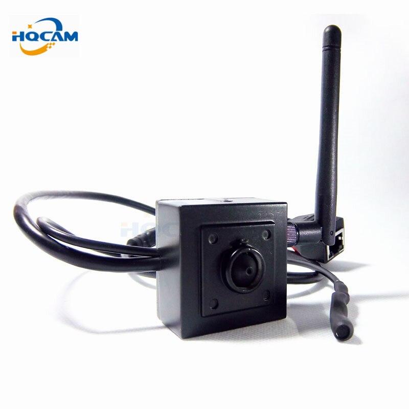 HQCAM 960 P H.264 Onvif mini caméra ip HD Wifi caméra IP sans fil P2P Plug Play caméra 2.8mm de large Ang lentille support microphone