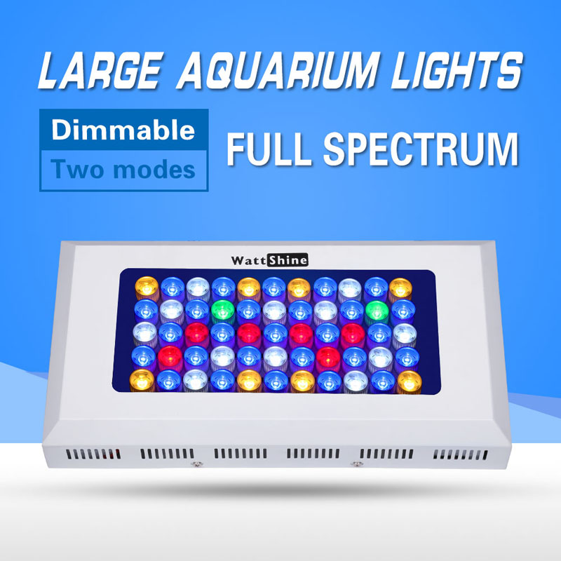 Free shipping dimmable led coral reef aquarium lights 165W led aquarium lamp, dropshipping marine aquarium led lighting
