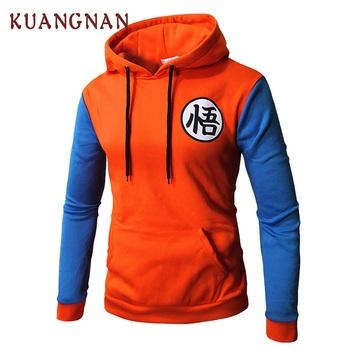 f702d02f KUANGNAN Dragon Ball Hoodie Men Fashions Streetwear Japanese Anime Hoodie  Men Pullover Men Hoodies Male Clothes 2018 Autumn