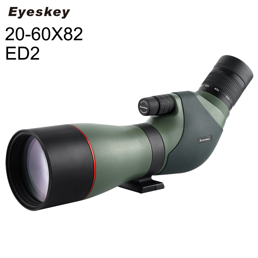20-60x82mm ED2 Angled Zoom Spotting Scope for Bird Watching with Carry Case free shipping gomu waterproof angled 20 60x60 zoom spotting scopes telescope for bird watching tripod
