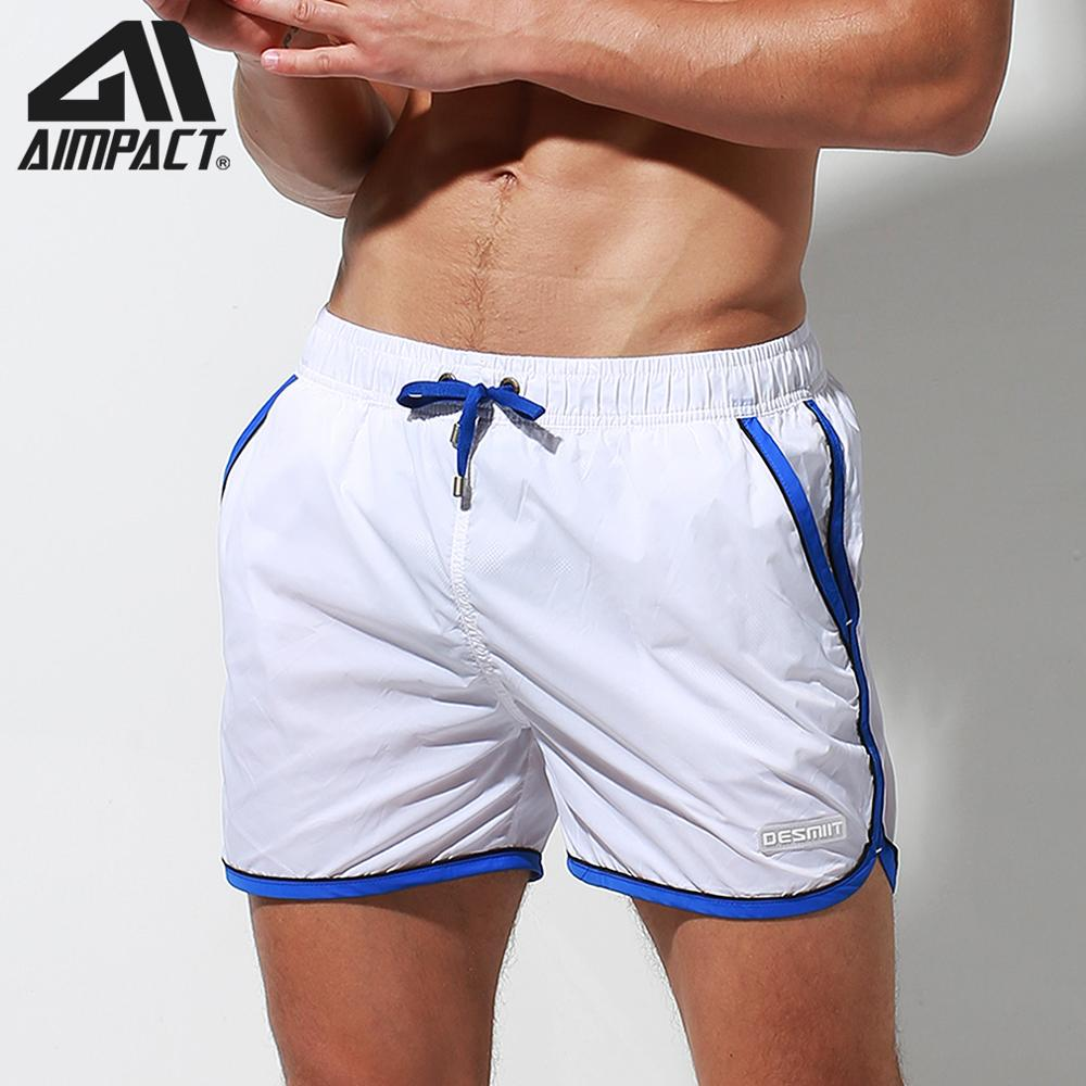 Desmiit Fast Dry Men's Board Shorts with Lining Male Drawstring Surf Swimming Short Trunks Holiday Beachwear Sport Running DT86