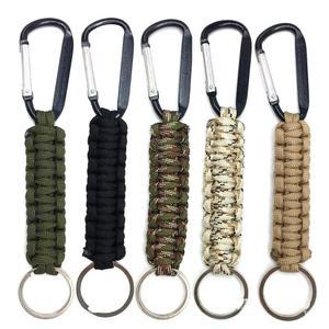 Safety Survival Gear Tactical Military Strand Cord Parachute Rope Keyring Carabiner Kits Lanyard Keychain Outdoor Tools Random(China)