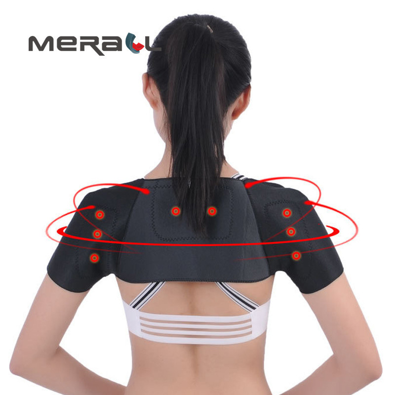 1Pcs Hot Sale Tourmaline Self-heating Shoulder Pads Support Magnetic Therapy Relieve Cervical Pain Bone Care Massager Equipment