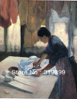 Oil Painting Reproduction on Linen Canvas,Woman Ironing 1 by edgar degas,Free DHL Shipping,100%handmade,oil paintings