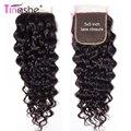 Волосы Tinashe бразильские волнистые кружевные без застежки/средняя часть естественного цвета Remy человеческие волосы 5x5 дюймов швейцарские кр...