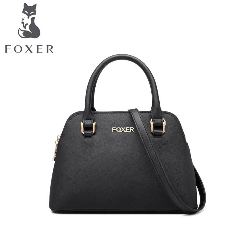 FOXER2018 high-quality fashion luxury brand new handbag fashion cowhide shell packet Europe and the United States wild Messenger fashion europe style luxury high quality