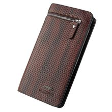 Wallet Men Leather Genuine Classic Long Style Card Holder Male Purse Zipper Capacity Wallet(China)
