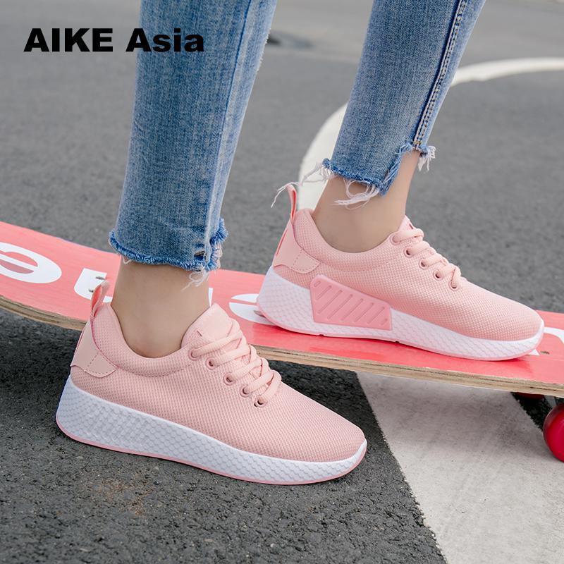 נשים רשת אוויר לנשימה Tenis Feminino נעלי תחרה מקרית חיצוני קל משקל אשת נעלי ספורט Vulcanized נעלי נשים #5506