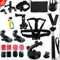 GoPro Accessories Kit  For GoPro Hero 4 2 3 3+ SJ4000 Monopod Combo set Chesty Head Strap Handler Go Pro Selfie Monopod etc