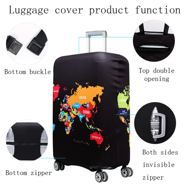 World Map Travel Luggage Suitcase 2