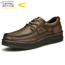 Unta Aktif Baru Merek Kulit Sapi Sepatu Pria Musim Semi Musim Gugur Fashion  Renda Kulit Asli 9d4d3071e6