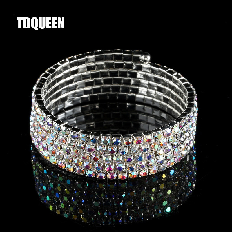 2019 New Style Ladies Silver Zircon Crystal Rhinestone Bangle Bracelet High Quality Nice Gl Products Are Sold Without Limitations Jewelry & Watches