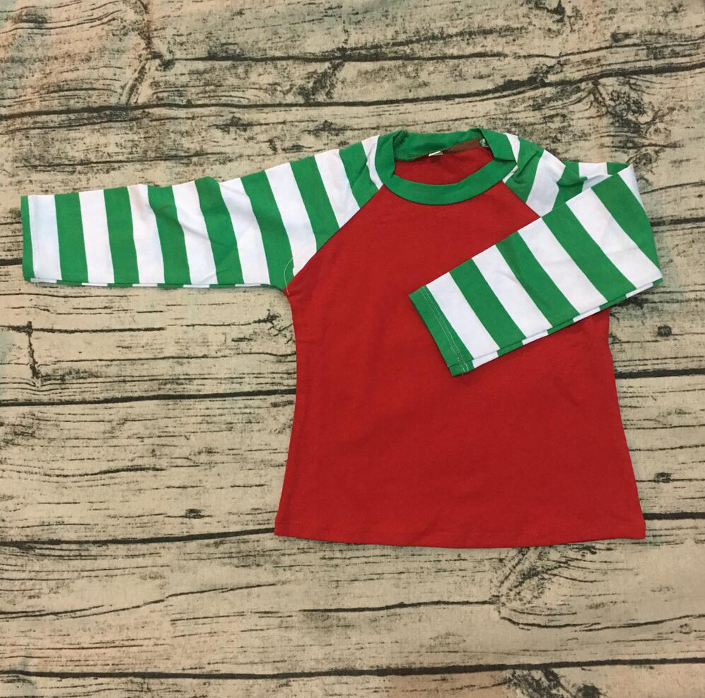 3bca7d9830 Factory direct custom Christmas children toddler green and red stripe  raglan top 3/4 sleeves cotton infant kids raglan t shirt-in Tees from  Mother & Kids on ...