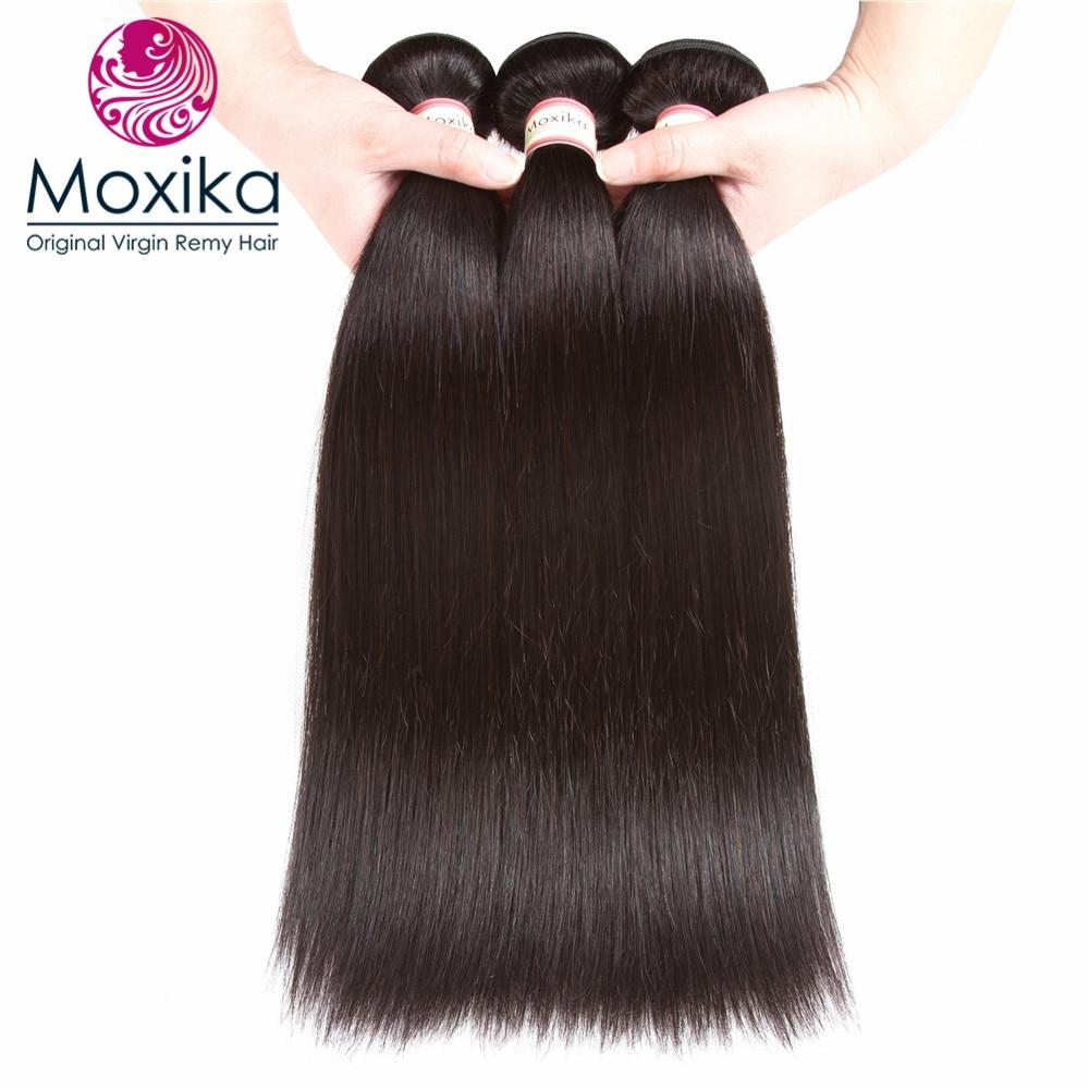 Moxika 100 Peruvian Straight Human Hair 3bundles lot Remy Natural Color Peruvian Hair weaves 8 28inch