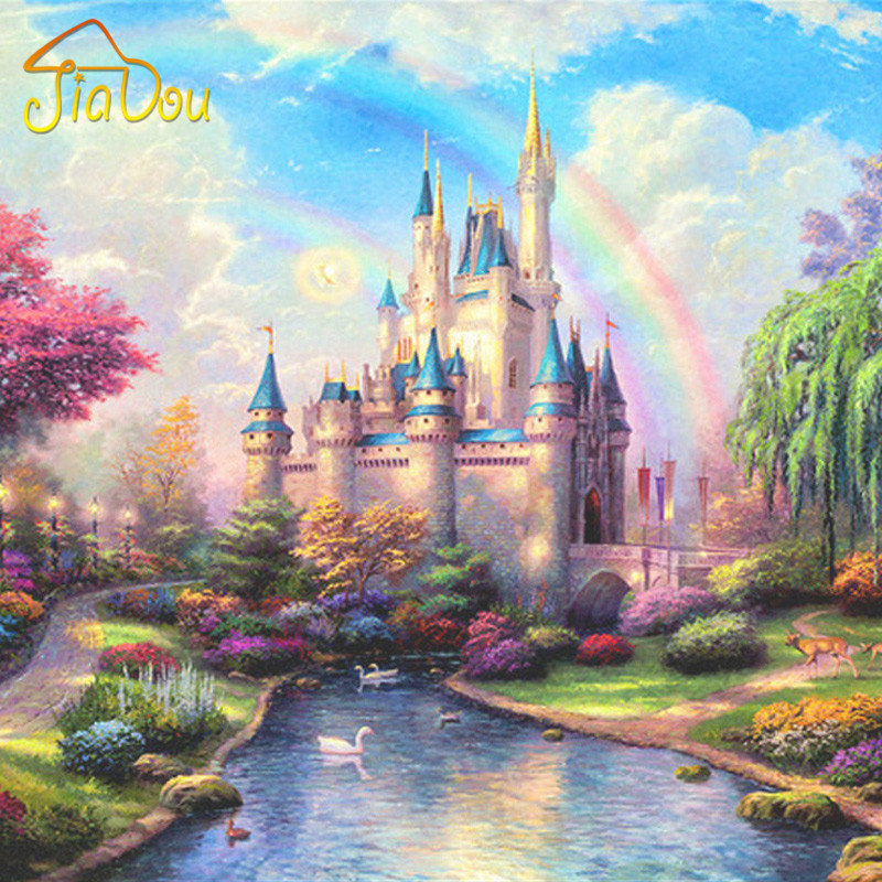 Custom 3D Wall Mural European Style Bedroom Living Room TV Background 3D Fantasy Castle Entrance 3D Photo Wallpaper Home Decor book knowledge power channel creative 3d large mural wallpaper 3d bedroom living room tv backdrop painting wallpaper