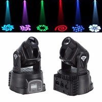Ship From EU 2x 15W Red Green Blue DMX LED Moving Head Stage Lighting Light