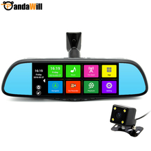 Special 7 inch Android Car GPS Navigation DVR Dual Lens Mirror Bluetooth 16GB FHD 1080p FM WIFI Sat nav Map Free Lifetime Update