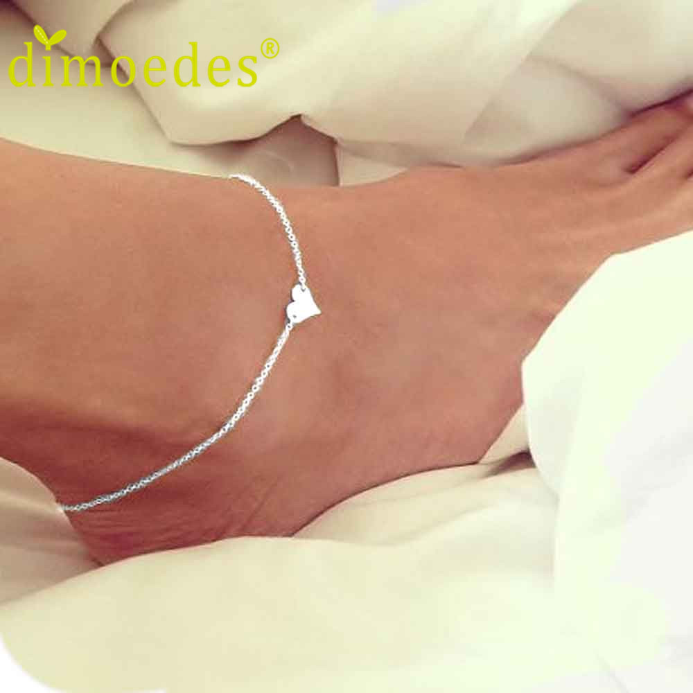 JU 17 Fairy Store 2016 Hot Selling  Girl Fashion Simple Heart Ankle Bracelet Chain Beach Foot Sandal Jewelry