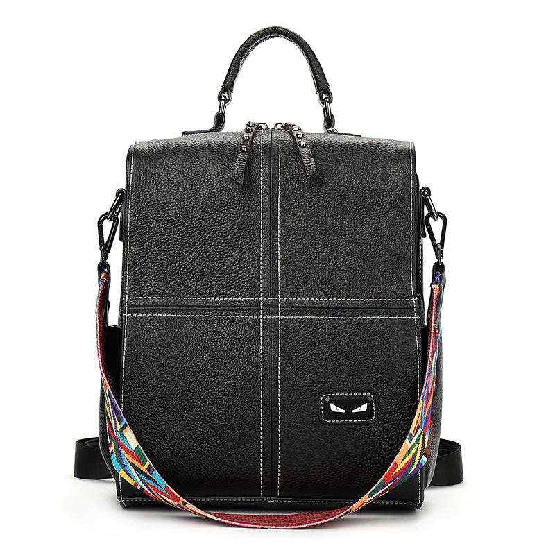 Luxury Genuine Cowhide Leather Women's Shoulders Bag High Quality Business Women Backpack Fashion New Design Travel Backpacks women bag 2016 new foxer brand women genuine leather backpack fashion quality women cowhide leisure wild student backpack
