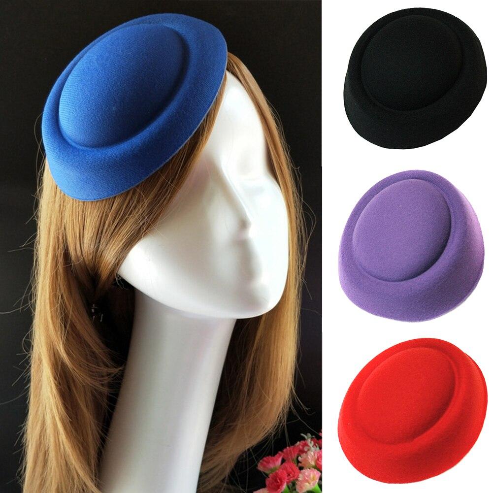 Mulheres Hairclip DIY Craft Chapelaria boina Sentiu Acessórios Para O Cabelo Retro Casamento Hostess Casquete Fascinator Base de Mini Fascinator