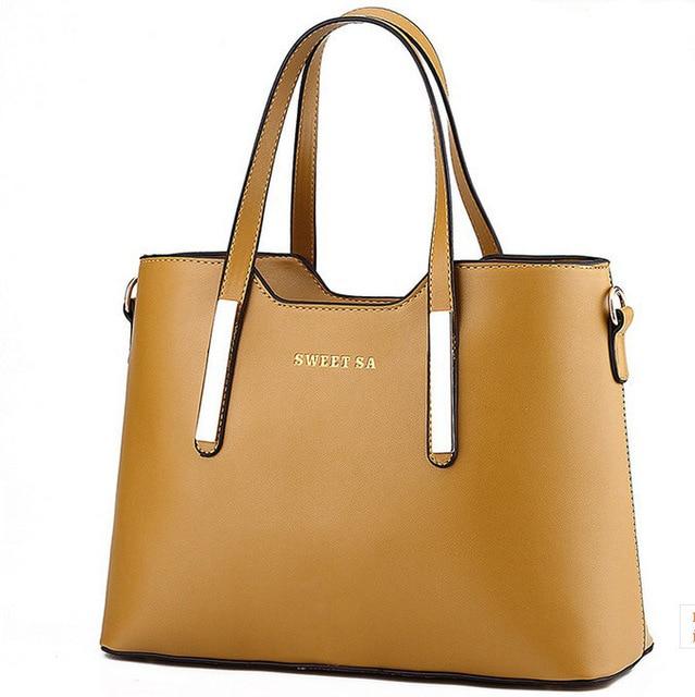 6672d5b0117 2015 Fashion Ladies Large Handbags PU Leather Women Bags Handbags Women  Famous Brands Saffiano Women Shoulder Bag 12 Colors