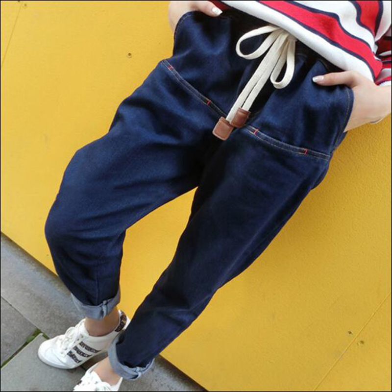2017 Harem Pants For Women Fashion Loose Casual Vintage Distressed Regular Spandex Bleached Denim Trousers Woman Jeans Plus Size loose ankle length jeans for women 2017 new vintage distressed high waist ripped denim harem pants woman trousers plus size