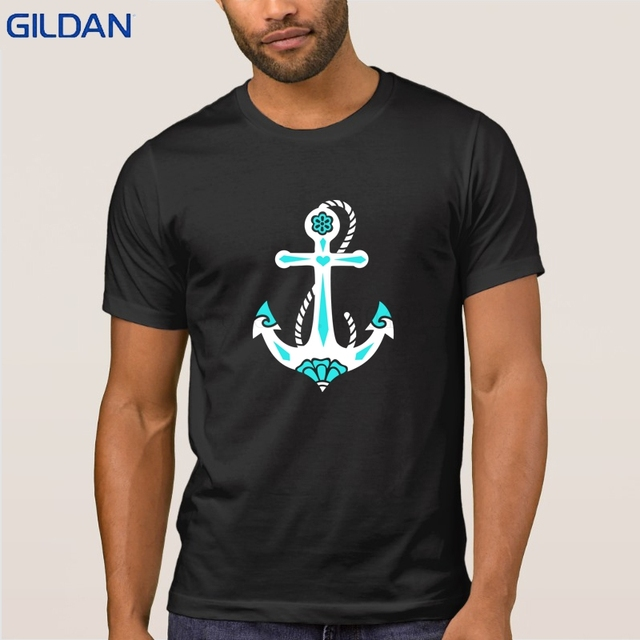 34e1900d0bec9 Knitted Anchor Sacred Rose Symbol Hope Faith Love Tshirt Short Sleeve Tee  Shirt T Shirt Men Building S-3xl Letters Clever