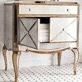 MR-401115 Mirrored bedroom dresser, chest, mirrored night stand