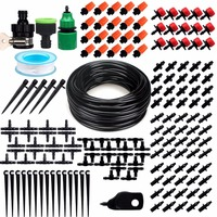 15M Patio Plant Watering Kit 1/4 Blank Distribution Tubing Hose Garden Drip Irrigation System, Misting Cooling System