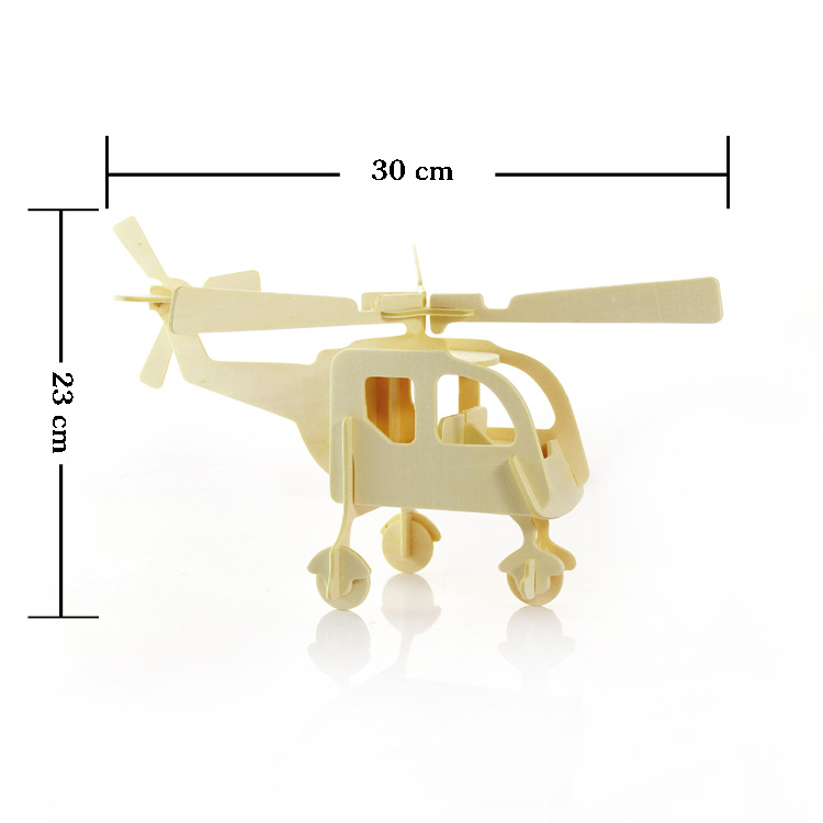 3D трехмерные деревянные животного Самолет автомобилей пазл игрушки для детей поделки ручной работы деревянные пазлы