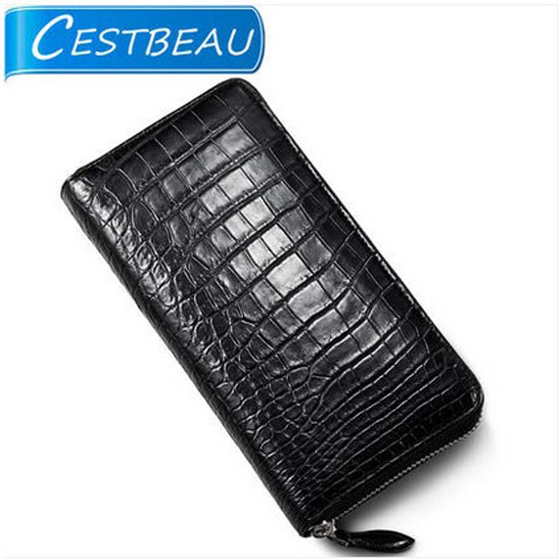 cestbeau Thai crocodile leather men clutch bag mans luxurious belly big business wallet leather hand bag